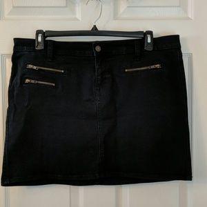 Old Navy Diva Black Denim Jean Skirt
